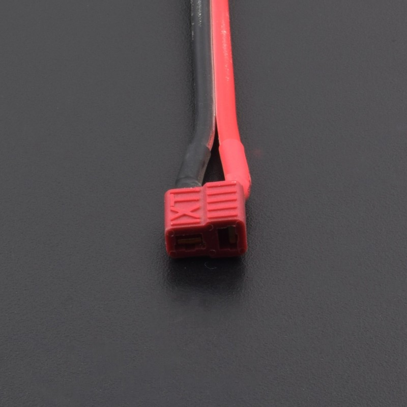 1PCS Deans style T plug Female Connector 10cm 14AWG Silicone Wire Cable - RK034
