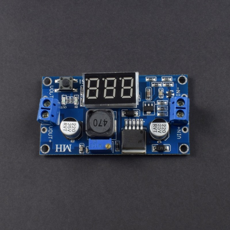 LM2596 LM2596S power module + LED Voltmeter DC-DC adjustable step-down power supply module with digital display - NA068