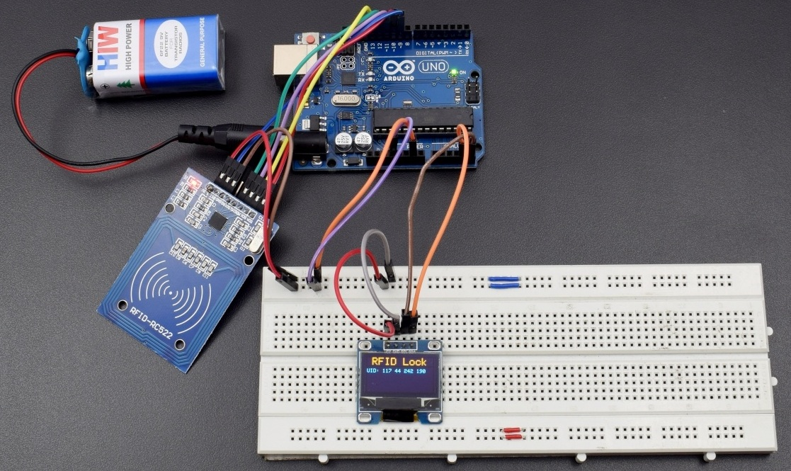 Display the Entry of a unique ID user on OLED display using RC522