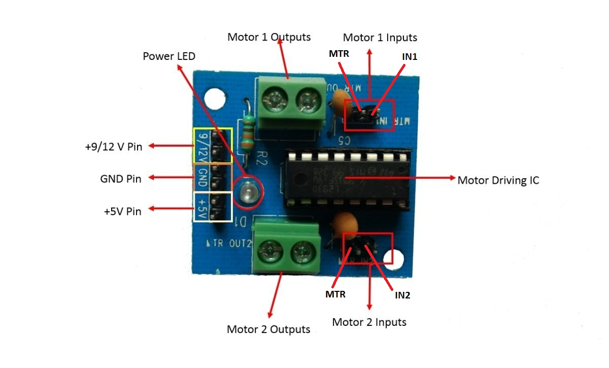 Make A Line Follower Robot Using L293d Motor Driver Module On It Consists Of Two H Bridge Circuit Inside The Ic Which Can Rotate Dc Independently