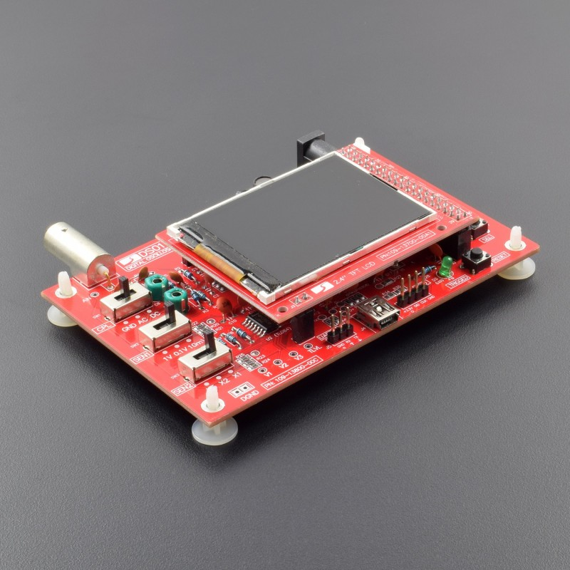 DSO138 Handheld Pocket-size Digital Oscilloscope Kit Open Source 2.4 inch TFT 1Msps with Probe Assembled Vision (Welded) - RC014