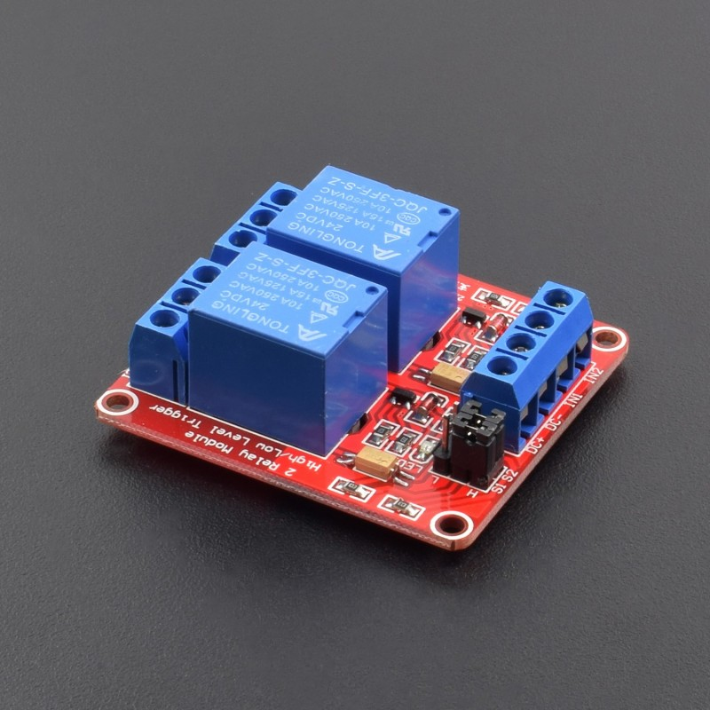 DC 24V 2-Channel Relay Moudle High/Low level Trigger Optocoupler isolation - NA190