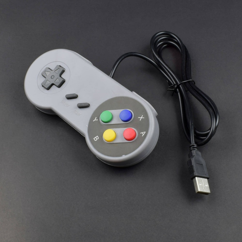 "Raspberry Pi Compatible USB Gamepad / Controller (""SNES"" Style) -RS165"