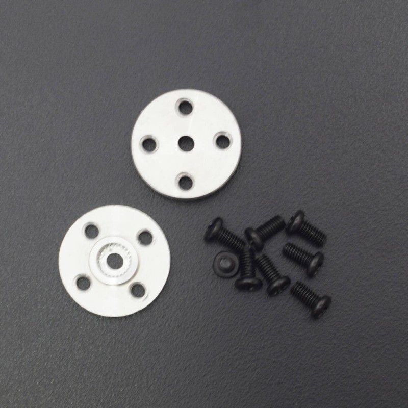 Mechanical Metal Arm Paw Horns for 25T x 20mm RC Robot Servos Round 5 Sets Disc - RS1906