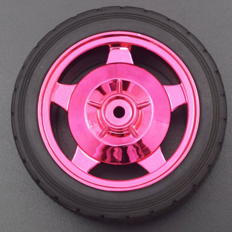 83MM Large Robot Smart Car Wheel, 35MM Width Surface Red (4 Pieces) - RS1916