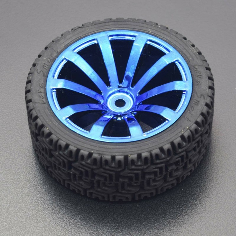 65mm Plastic Wheels Blue for The Robot, Smart car, Smart Vehicles, Parts for DIY (4 Pieces) - RS1917