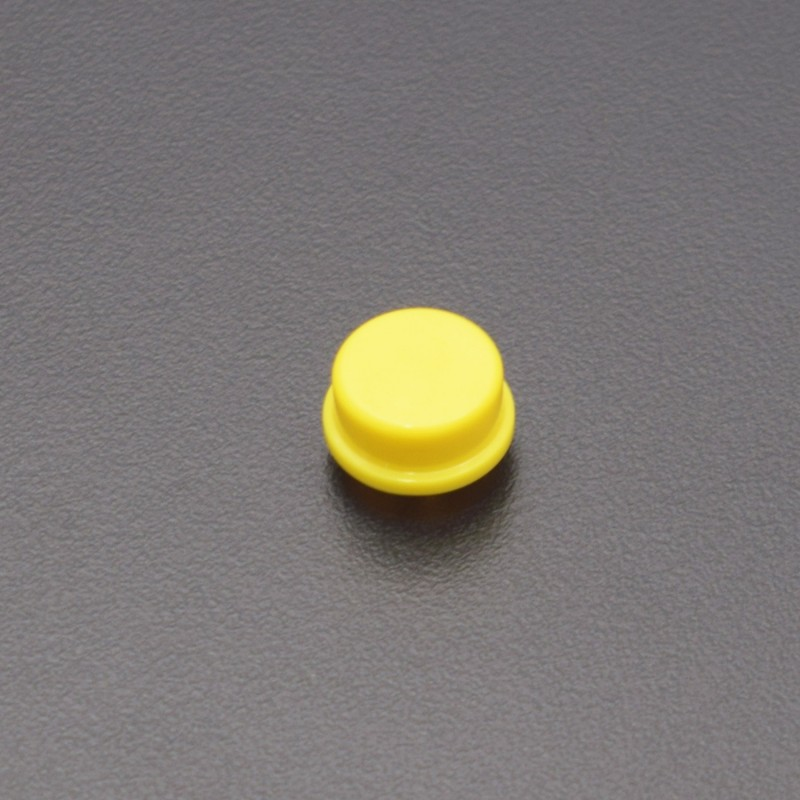12x12mm PCB Momentary Tactile Tact Push Button Switch 4 Pin DIP with switch Cap (yellow) - AC021