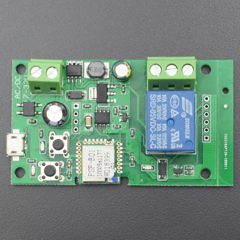 5-32 V Inching/Self-locking Wifi Wireless Switch Module Work for Alexa Nest home - RS1876