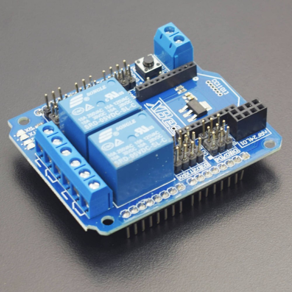 2 Road Relay Shield Wireless Expansion Board (with XBee/BTBee Interface) - RS1779