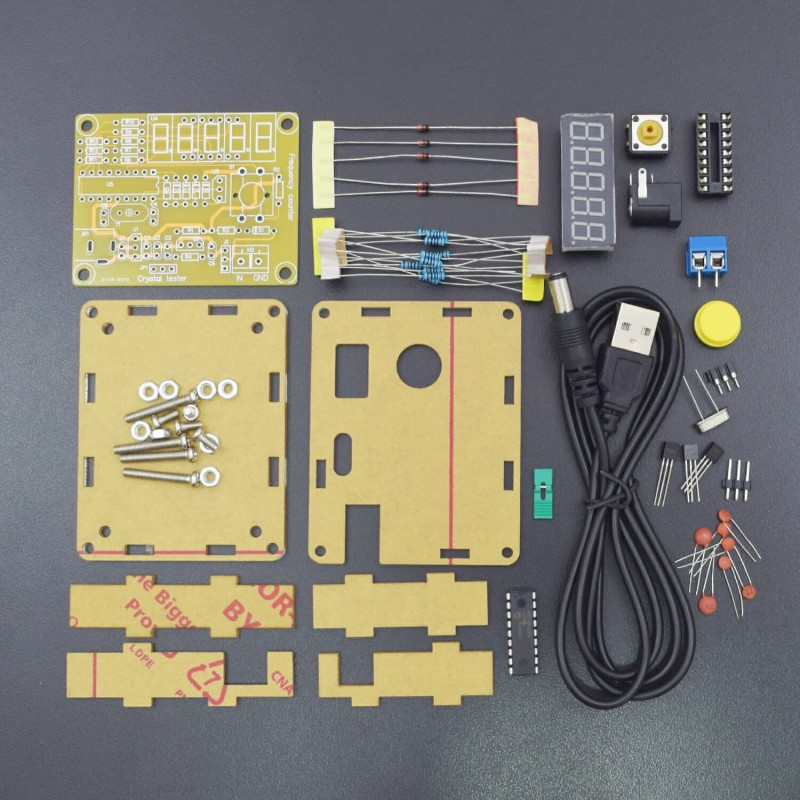 DIY Kits 1 Hz-50 MHz Crystal oscillator Tester Frequency Counter Tester Meter case Durable DIY led kit - RS1781