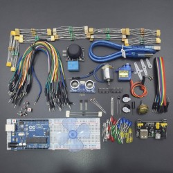 REES-1051 The Basic Starter Kit for Arduino with UNO R3, Breadboard, LED, Resistor, Jumper Wires and Power Supply-KT1051