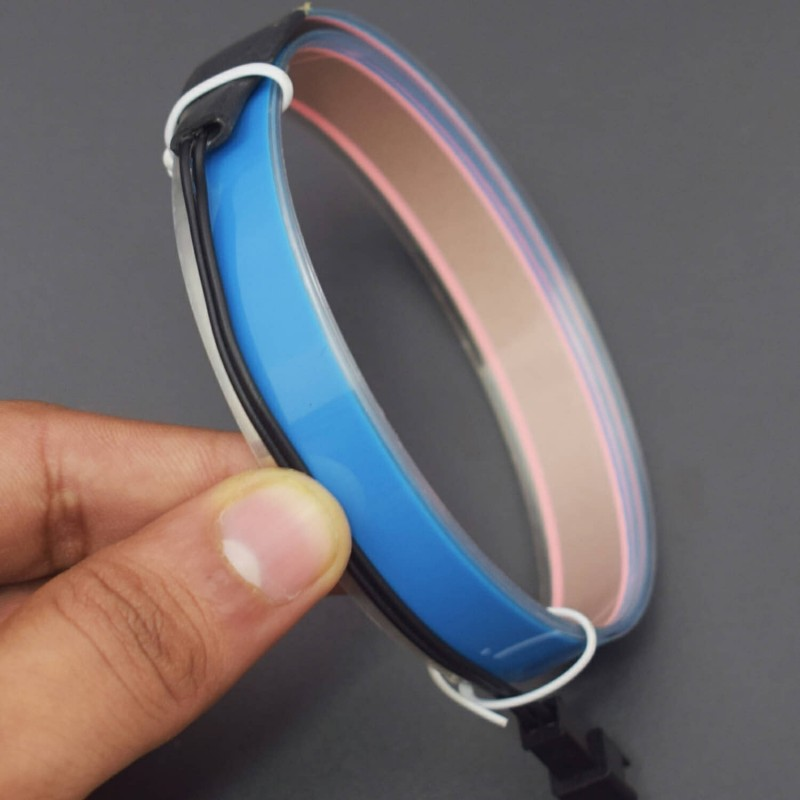 3.3ft Blue Electroluminescent Tape EL Wire Glowing LED Rope Flat Strip Light with AA Battery Box 3V- RS1491