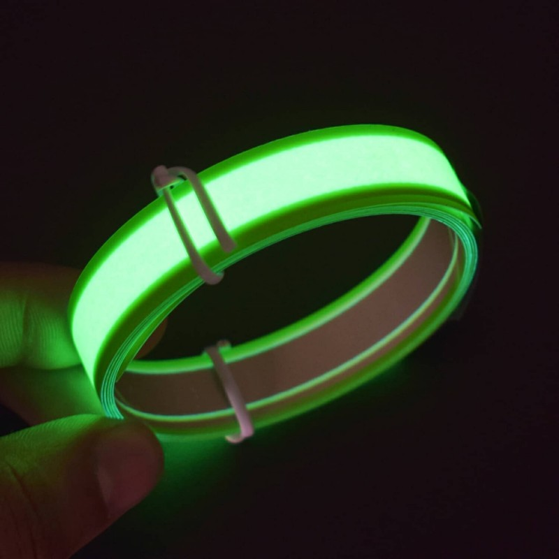 3.3ft Light Green Electroluminescent Tape EL Wire Glowing LED Rope Flat Strip Light with AA Battery Box 3V- RS1495