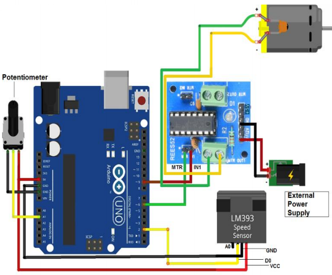 Make a Speed controller using speed sensor LM393 and BO motor with