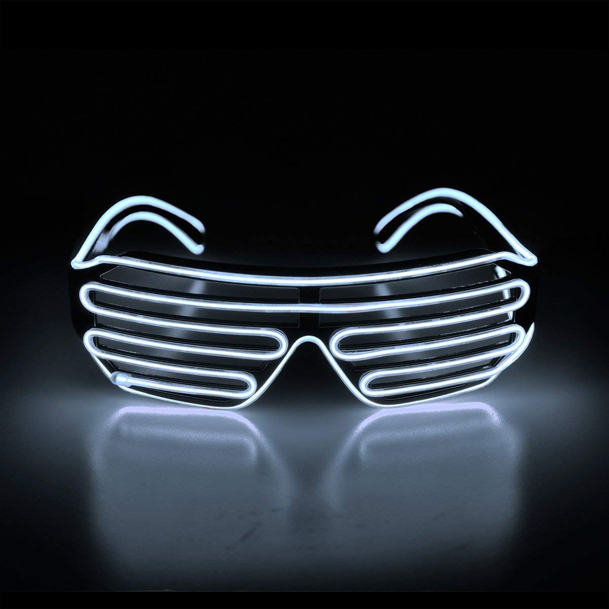 Novelty flashing glasses el wire led glasses glowing party light up supply